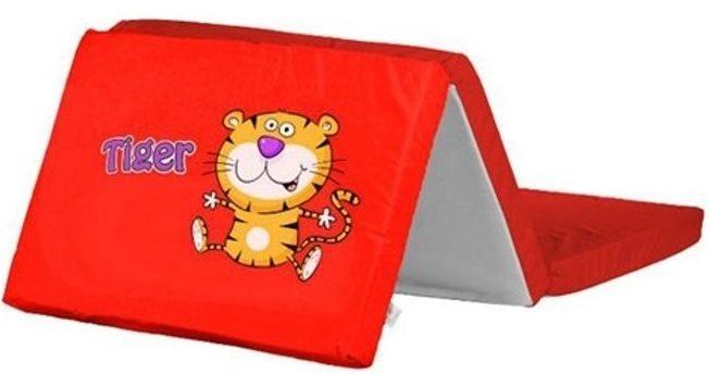 Skladací matrac do postieľky oranžový podtlač tiger
