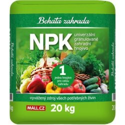 Bohatá zahrada NPK – Univerzálne zahradné hnojivo 20kg