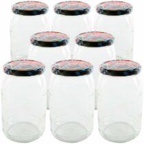 Orion Sada zaváracích pohárov s viečkom 0,9 l, 8 ks