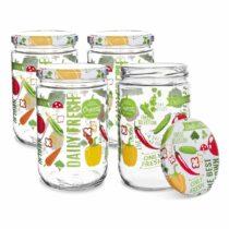 Orion Sada zaváracích pohárov s viečkom Fruit, 0,425 l, 4 ks