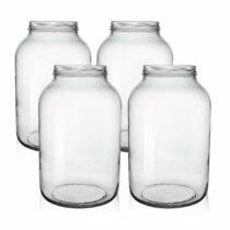 Orion Sada zaváracích pohárov s viečkom Okurkáč 3,7 l, 4 ks