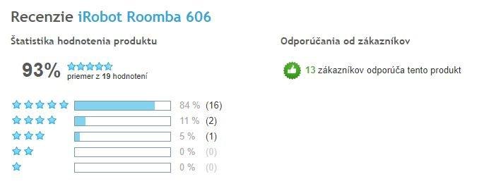 Robotický vysávač iRobot Roomba 606 - celkové hodnotenie Heureka