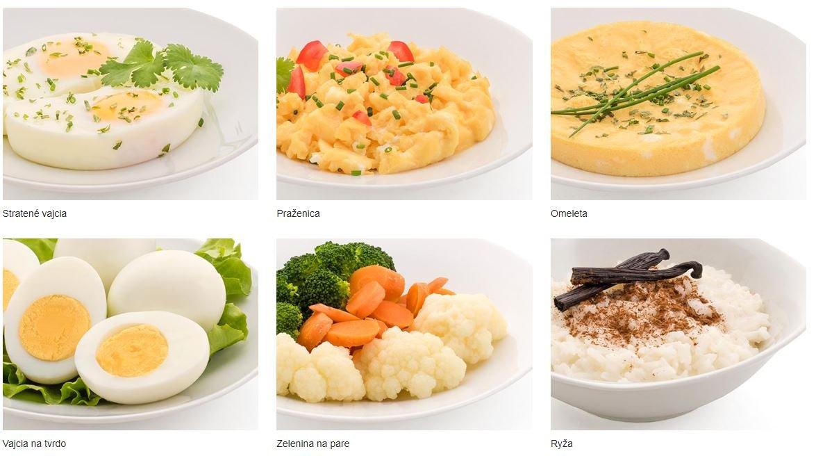 Jedlá pripravené vo variči vajec
