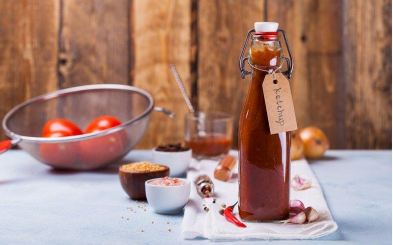 Domáci kečup vo fľaši