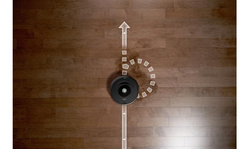 iRobot Roomba 676 - detekcia nečistôt