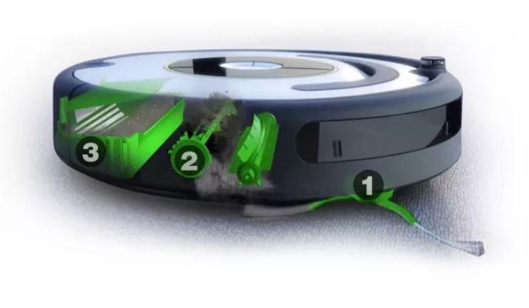 iRobot Roomba 676 WiFi - trojstupňový čistiaci systém