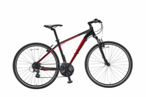 Červeno čierny horský bicykel