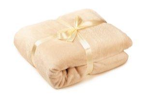 Mäkká béžová deka