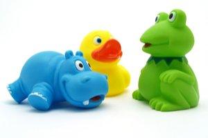 Gumený hroch, kačka a žaba