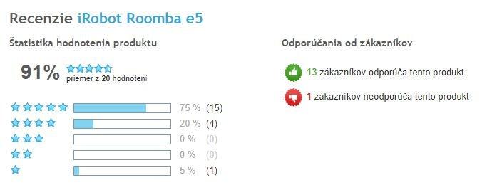 iRobot Roomba e5 - celkové hodnotenie produktu, Heureka