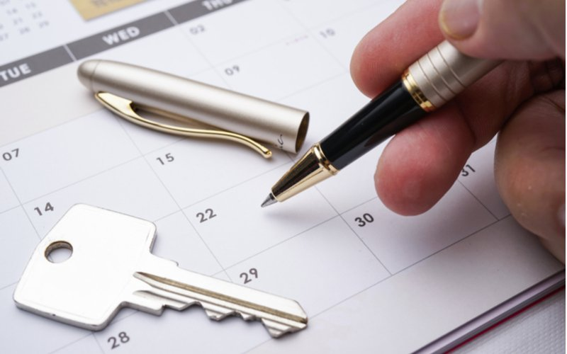 Pero a kľúč na kalendári