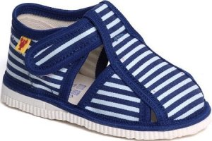 Prvé detské modré papučky