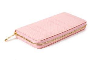 Dámska ružová peňaženka so zlatým zipsom