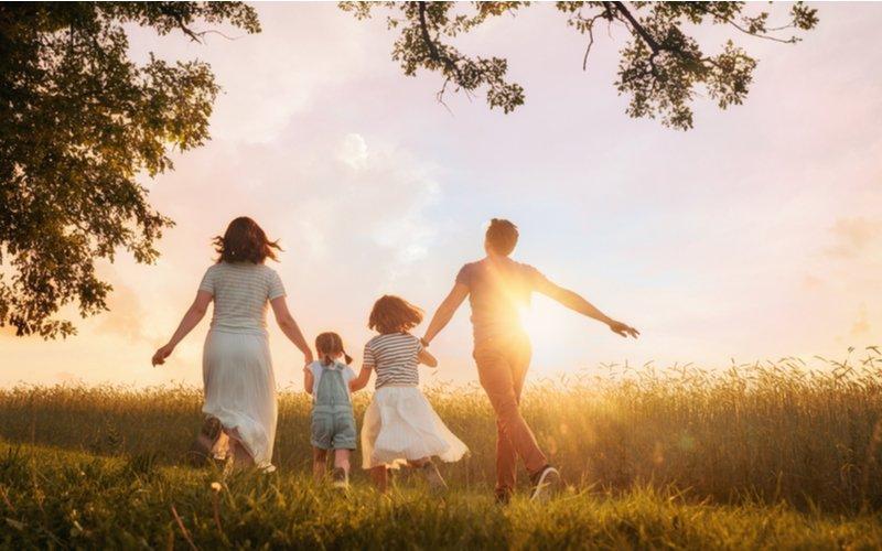 Deti s rodičmi v prírode