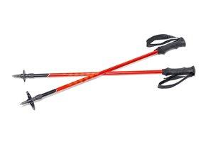 Dve červené trekingové palice