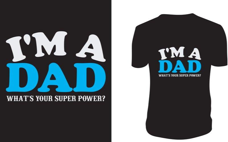 Vtipné čierne tričko pre otca