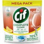 Cif tablety do umývačky All-in-1 Citrus 70 ks