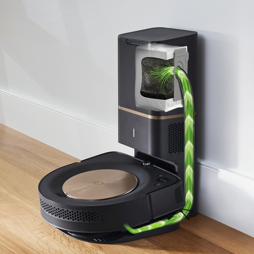 iRobot Roomba s9+ WiFi - automatické vyprázdnenie odpadovej nádoby
