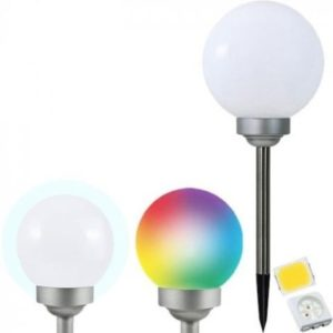 LED RGB Solárna lampa LED-RGB/0,2W/AA 1,2V/600mAh IP44