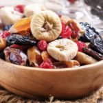 Mix sušeného ovocia v mise