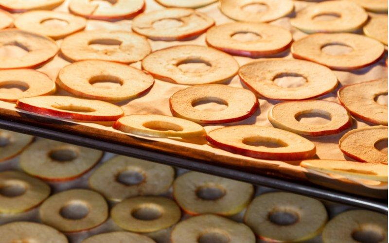 Sušenie jabĺk v rúre