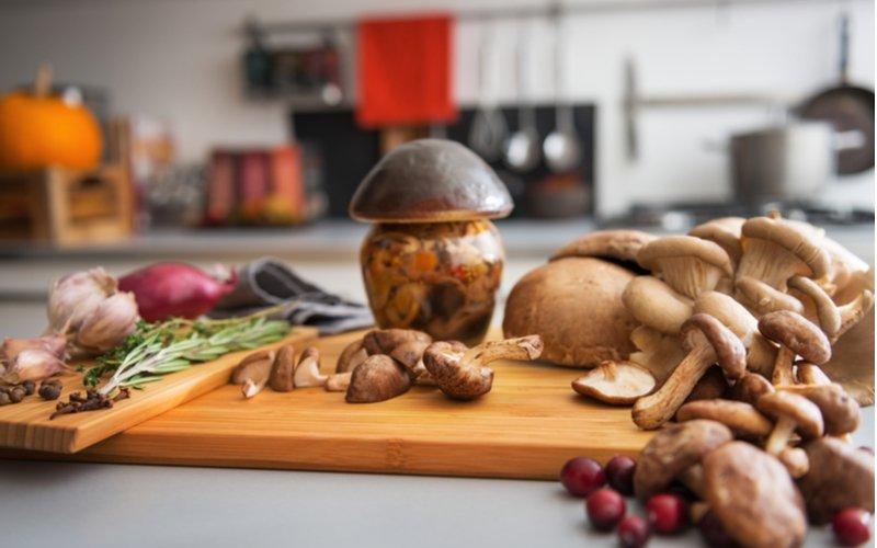 Zavárané huby so zeleninou