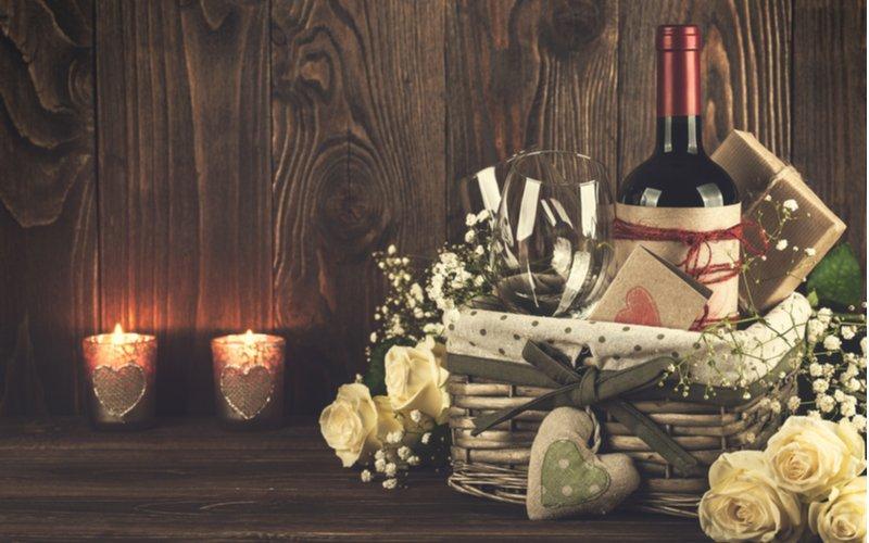 Darčekový kôš s vínom