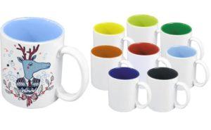 Deväť farebných hrnčekov