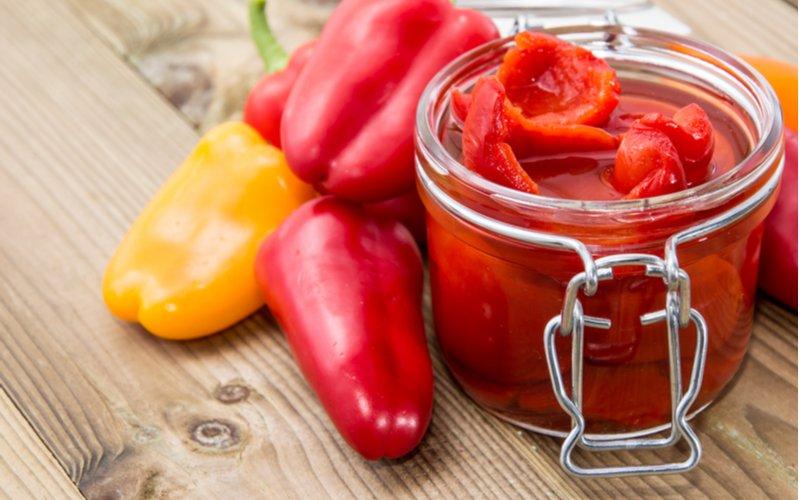 Zaváraná paprika v oleji