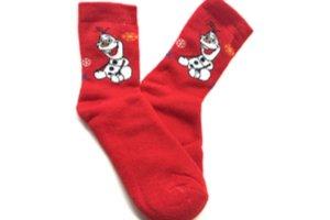 Červené vianočné ponožky