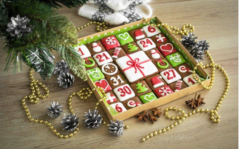 Medovníkový adventný kalendár