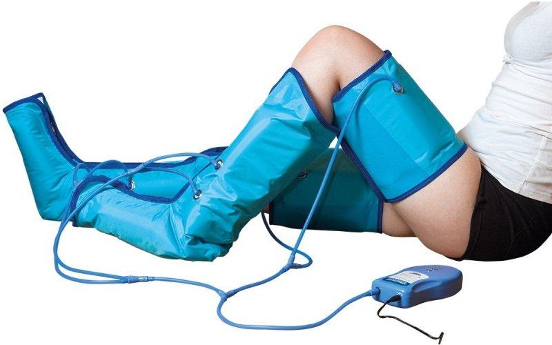 Modré nafukovacie návleky na nohy