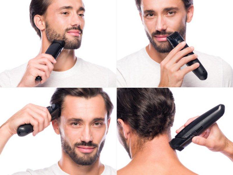 Muž si strihá vlasy