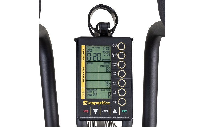 Monitor s informáciami na Air biku