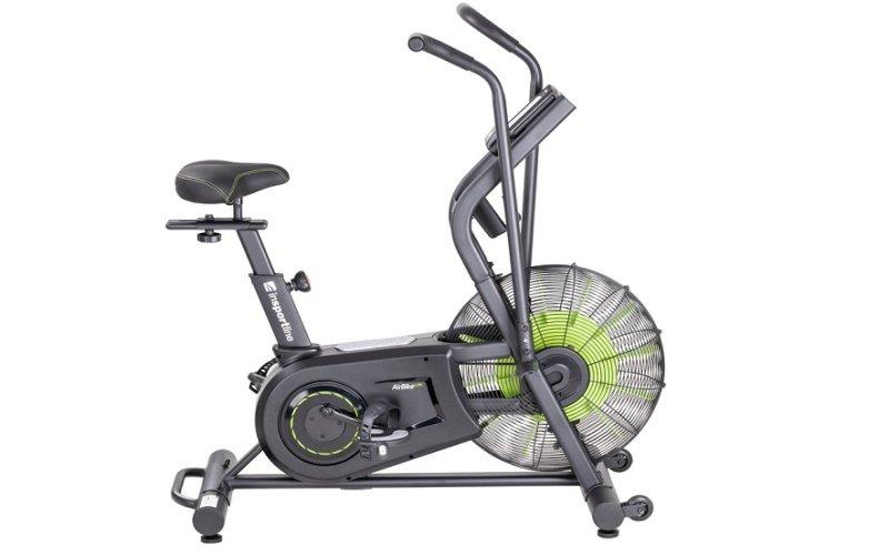 Sivý Air bike so zeleným ventilátorom