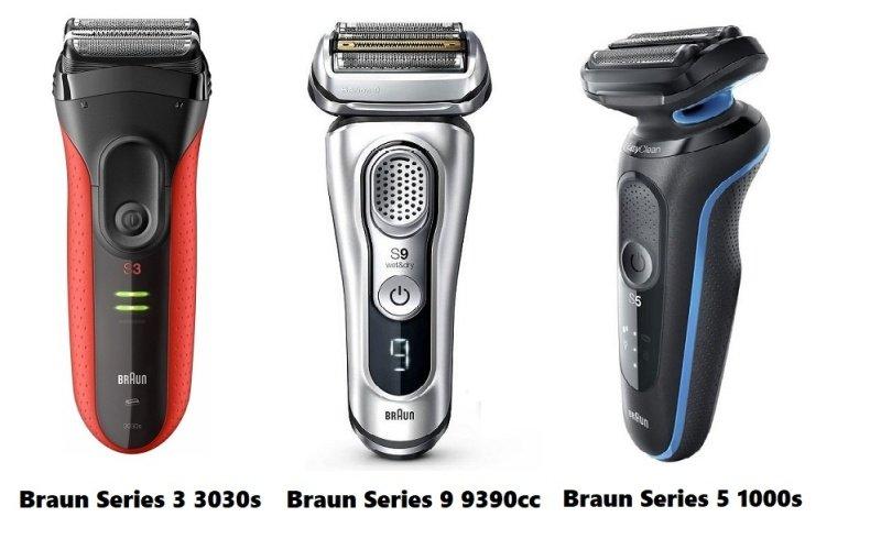Tri modely planžetových holiacich strojčekov značky Braun