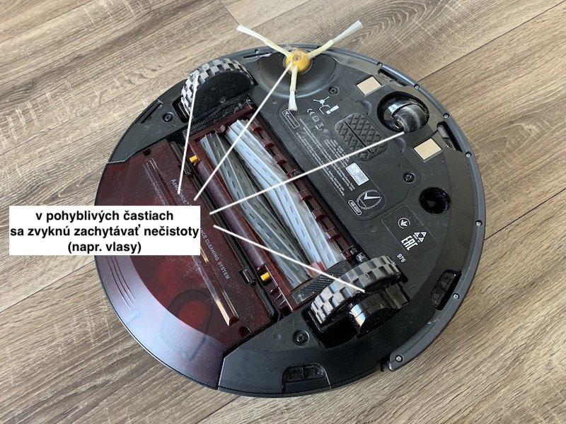 Spodná strana vysávača iRobot Roomba 976