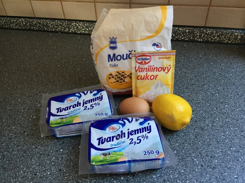 Práškový cukor, vanilkový, cukor, citrón, tvaroh, vajce