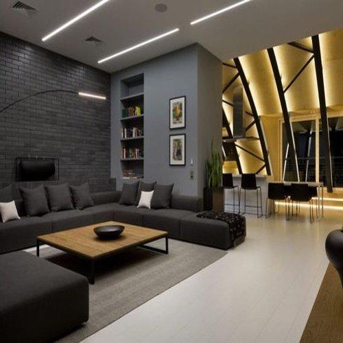 Obývačka v čiernom štýle
