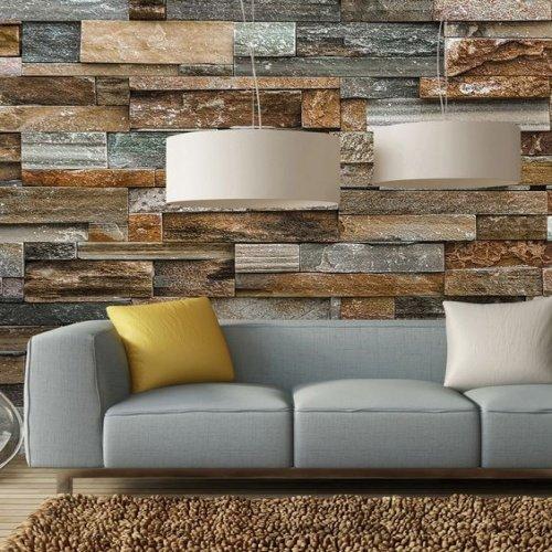 Farebná kamenný obklad v obývačke