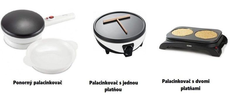 Tri typy palacinkovačov