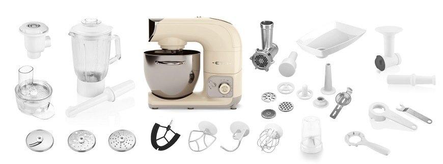 Rôzne príslušenstvo ku kuchynskému robotovi