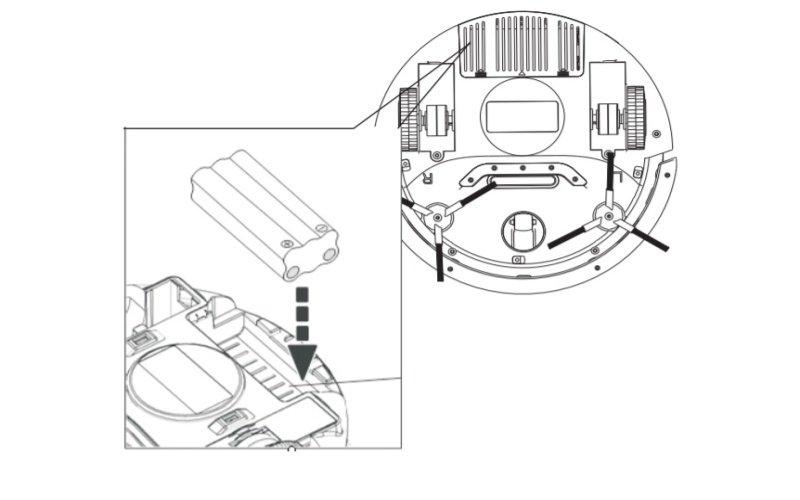 Obrázok výmeny batérie robotického vysávača