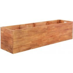 vidaXL záhradný kvetináč akáciové drevo 200x50x50 cm