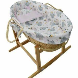 EKO Kôš Mojžišov pre bábätko Natural so stojanom matrac + príslušenstvo Hydrangea