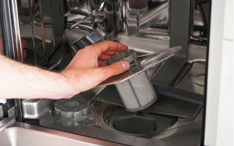 Filter z umývačky riadu