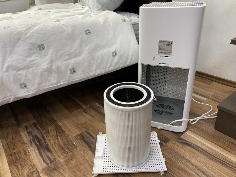 Filter vybratý z čističky vzduchu
