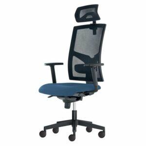 Kancelárska stolička PAIGE, modrosivá
