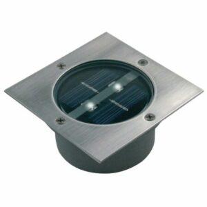 LED Solárny reflektor so senzorom LED/0,12W/2xAAA IP67 nerez štvorec