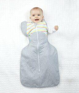 LOVE TO DREAM – Rýchlozavinovačka SwaddleMe Up 50/50 Winter, Multi Stripe 8,5 – 11 kg